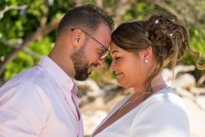 Hochzeit Anse au Pins Brautpaar Portraitfoto