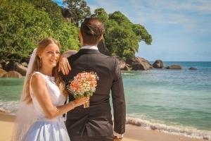 Hochzeit an der Anse Lousie