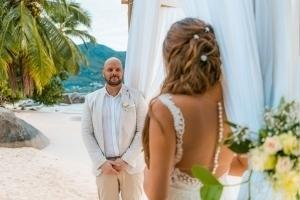 Hochzeit Mahe Braut und Bräutigam