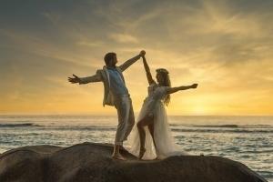 Hochzeit Seychellen Sonnenuntergang
