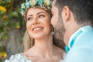 Hochzeit Seychellen Brautpaar Portrait