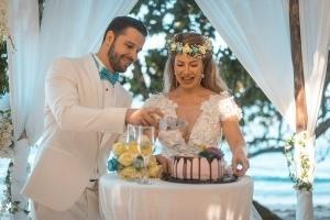Hochzeit Seychellen Hochzeitstorte