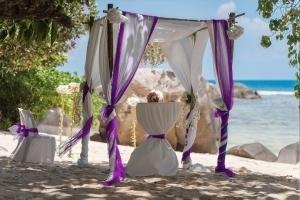 Seychellen Hochzeitsfoto Hochzeitspavillion