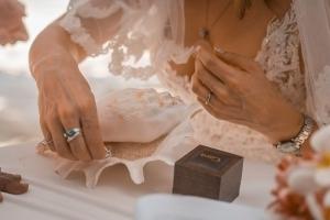 Seychellen Hochzeitsfoto Hochzeitsringe