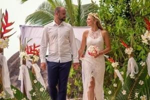 Seychellen Hochzeitsfoto Hochzeitsdekoration