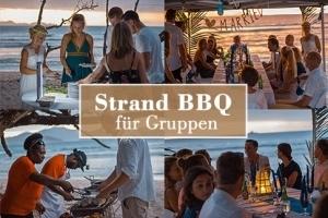 Option Strand BBQ für Hochzeitsgruppen