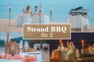 Option Strand BBQ für das Hochzeitspaar