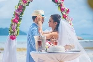 Hochzeit Anse Severe La Digue, Zeremonie