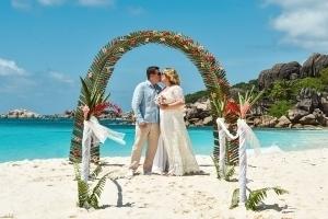 Seychellen Hochzeitsfoto Brautpaar