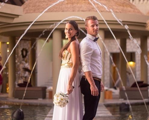 Hochzeitspaar Im Orangeraie Hotel