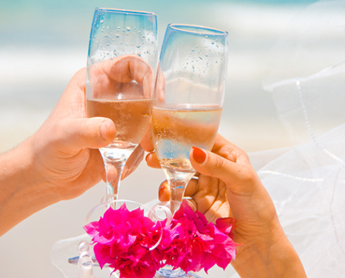 Superior Hochzeitspaket Flasche Sekt