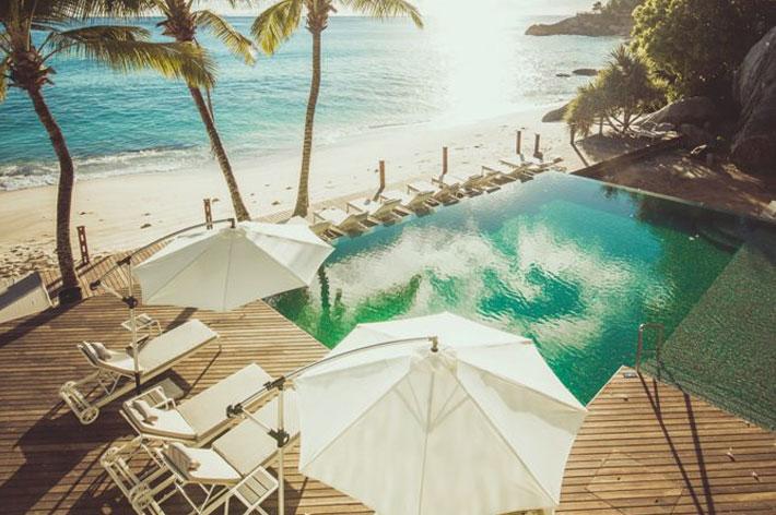 Carana Beach Hotel Pool Aerial