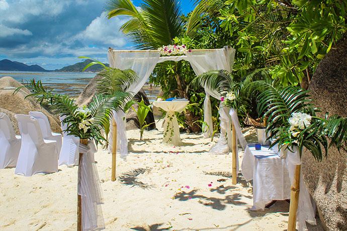 Heiraten auf La Digue Anse Source d'Argent