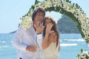 Hochzeit Baie Lazare Brautpaar Eheringe