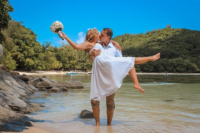 Hochzeit Mahè, Port Glaud