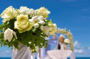 Hochzeit Silhouette Blumendekoration