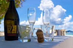 hochzeit silhouette champagner