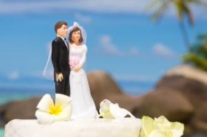 Hochzeit Silhouette Hochzeitstorte