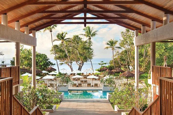 Kempinski Seychelles Resort Blick aufs Meer