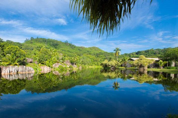 Kempinski Seychelles Resort Garten