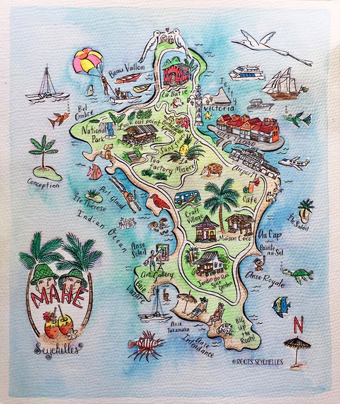 Karte Mahè
