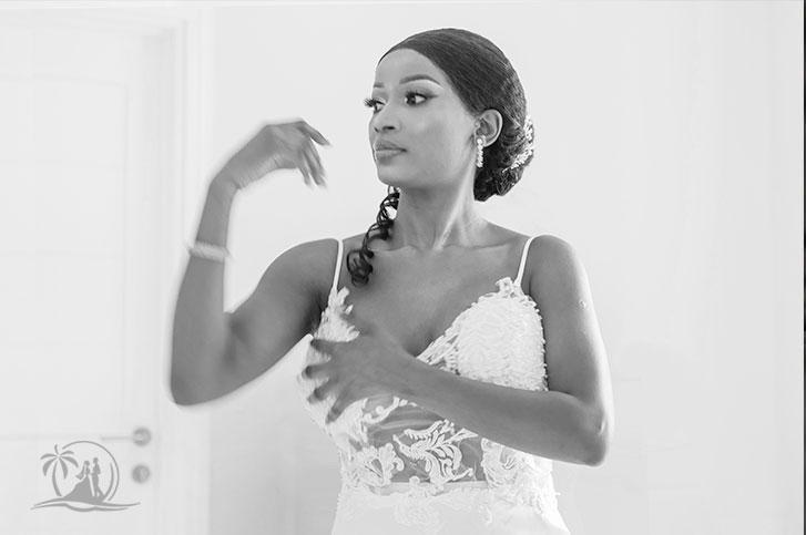 Seychellen Fotograf Braut im Spiegel