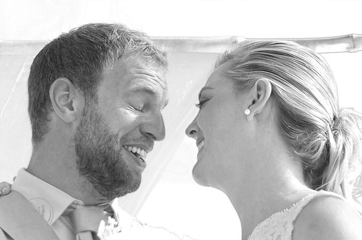 Seychellen Hochzeitsfotograf Brautpaar Zeremonie