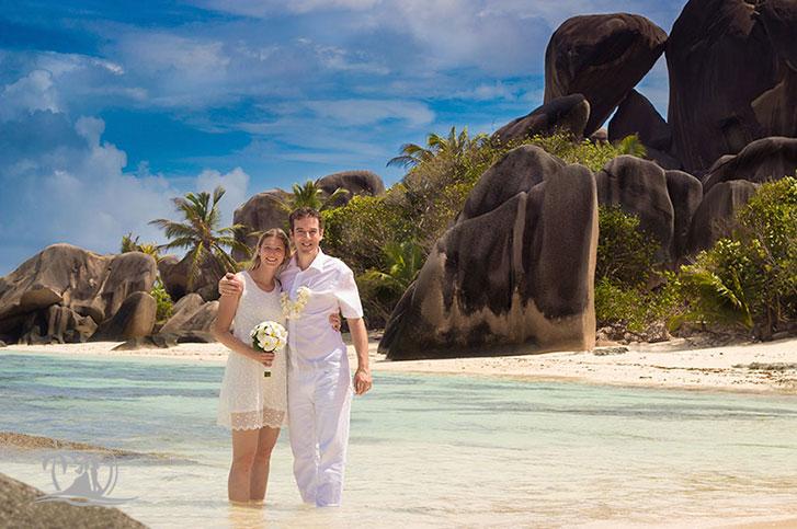 Braut und Bräutigam Carana im Indischen Ozean