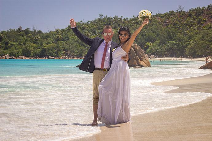 Symbolische Hochzeit auf den Seychellen